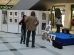 """Conny Stark im Gespräch mit Jürgen Plato in unserer Ausstellung """"see more jazz in fine art"""""""